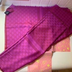 💟NEW GUCCI women scarf shawl GG Guccissima 70x195